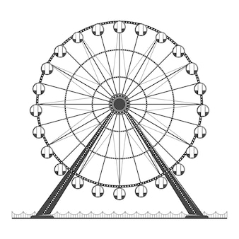 Ilustração de roda gigante