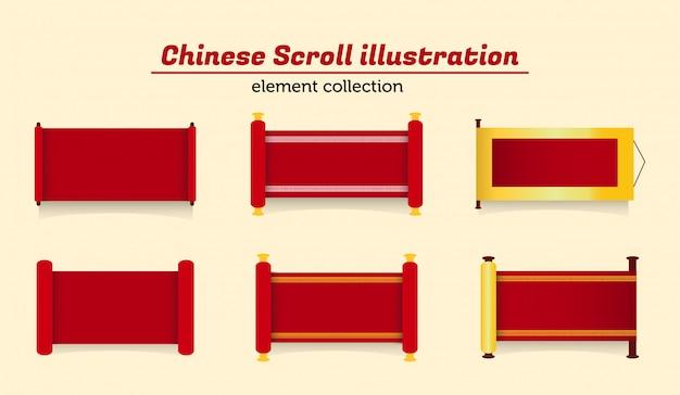 Ilustração de rolagem chinesa