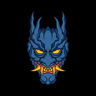 Ilustração de rosto de demônio