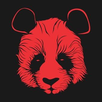Ilustração de rosto de panda