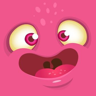 Ilustração de rosto engraçado monstro dos desenhos animados