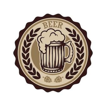 Ilustração de rótulo de cerveja vintage