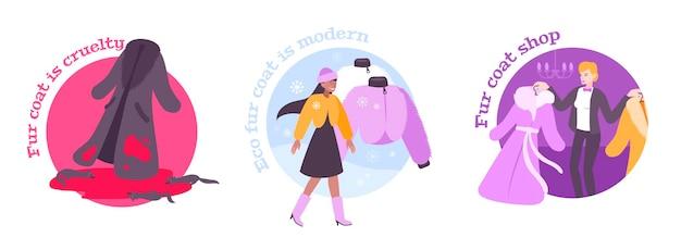 Ilustração de roupas de casaco de pele