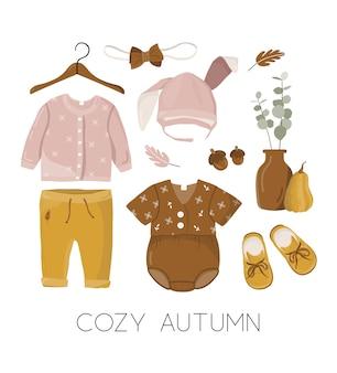 Ilustração de roupas de crianças
