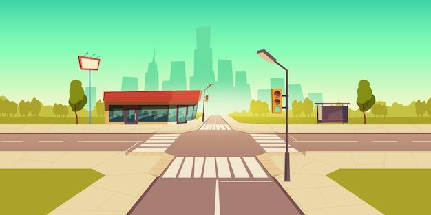 Ilustração de rua urbana
