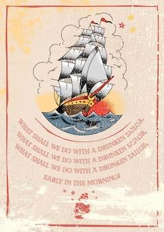 Ilustração de sailor jerry