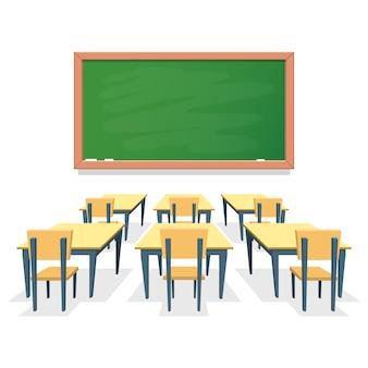 Ilustração de sala de aula isolada no branco