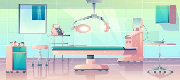 Ilustração de sala de cirurgia