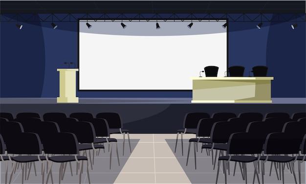 Ilustração de sala de conferência vazia