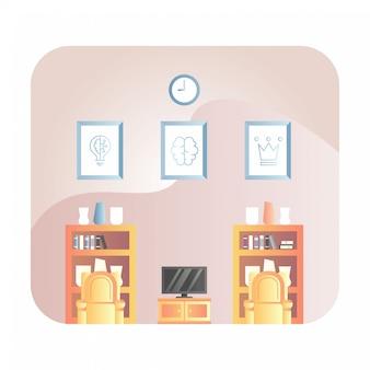 Ilustração de sala de estar