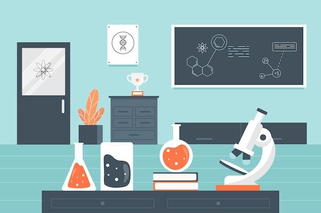 Ilustração de sala de laboratório