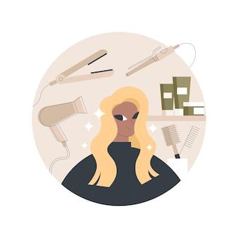 Ilustração de salão de cabeleireiro