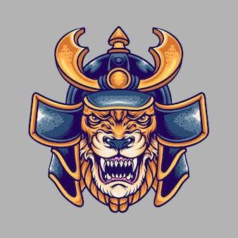 Ilustração de samurai da besta