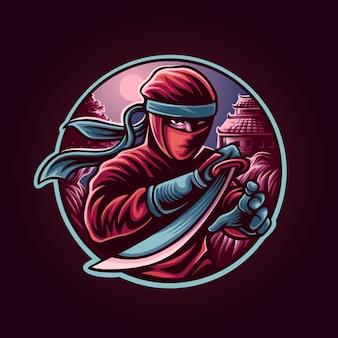 Ilustração de samurai ninja