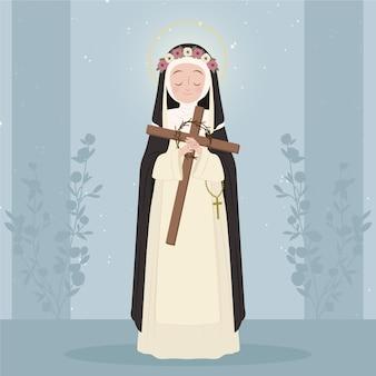 Ilustração de santa rosa de lima