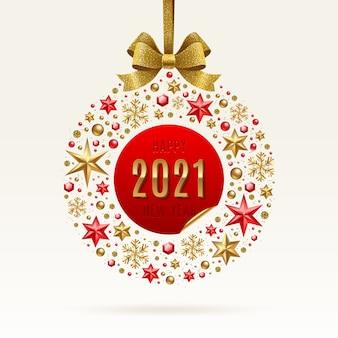 Ilustração de saudação de ano novo.