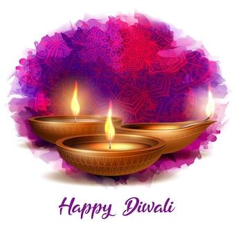 Ilustração de saudação de diwali