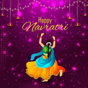 Ilustração de saudação de feriado indiano