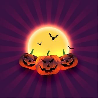 Ilustração de saudação festival de doces ou travessuras de halloween