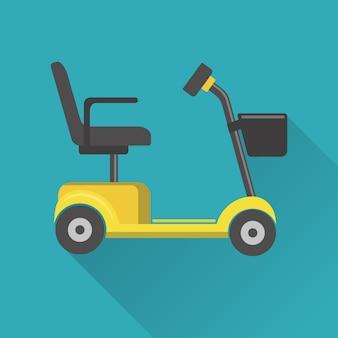 Ilustração de scooter de mobilidade
