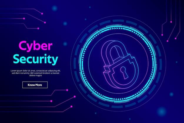 Ilustração de segurança cibernética