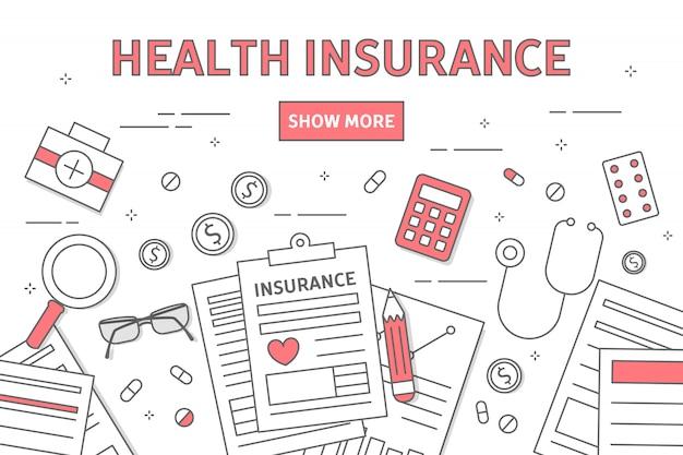 Ilustração de seguro de saúde.