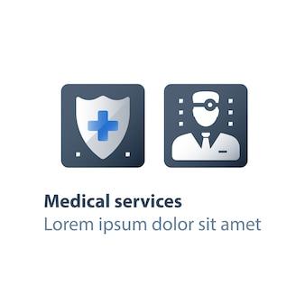 Ilustração de seguro médico