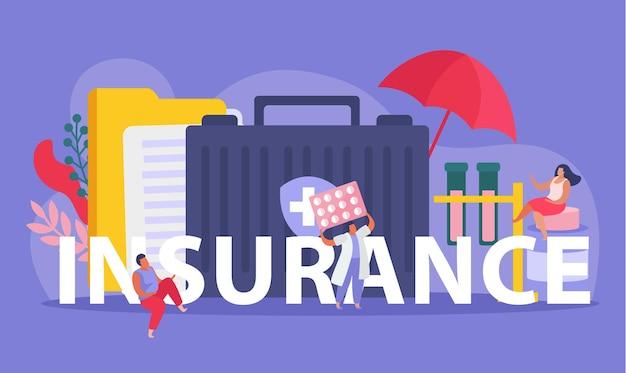 Ilustração de seguro saúde