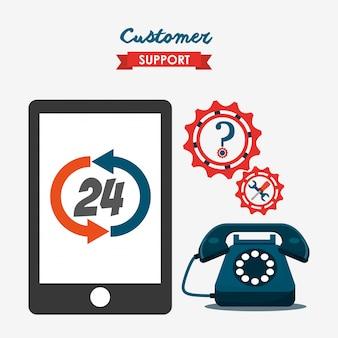 Ilustração de serviço ao cliente