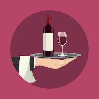 Ilustração de serviço de bebidas