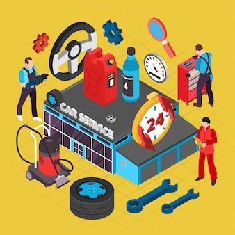 Ilustração de serviço de carro