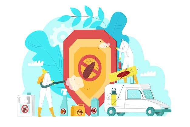 Ilustração de serviço de controle de pragas