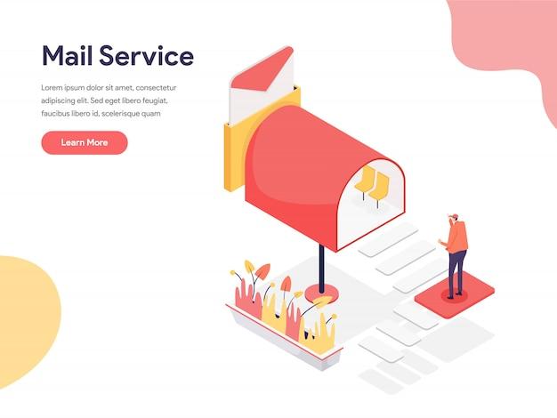 Ilustração de serviço de correio
