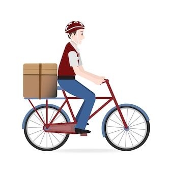 Ilustração de serviço de entrega de comida