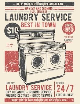 Ilustração de serviço de lavandaria