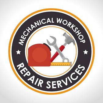 Ilustração de serviço de reparação