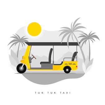 Ilustração de serviço de táxi de triciclo