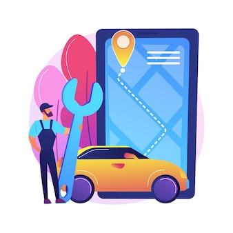 Ilustração de serviço na estrada