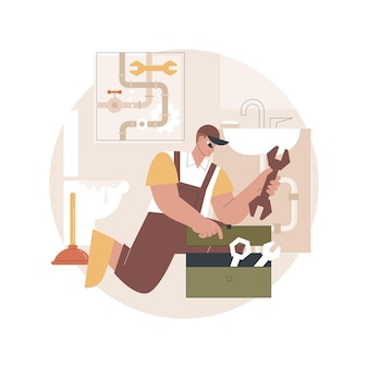 Ilustração de serviços de encanador