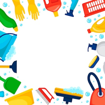 Ilustração de serviços de limpeza