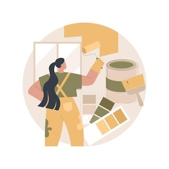 Ilustração de serviços de pintor