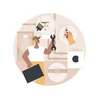 Ilustração de serviços de subsolo
