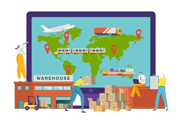 Ilustração de serviços logísticos