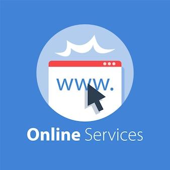 Ilustração de serviços online