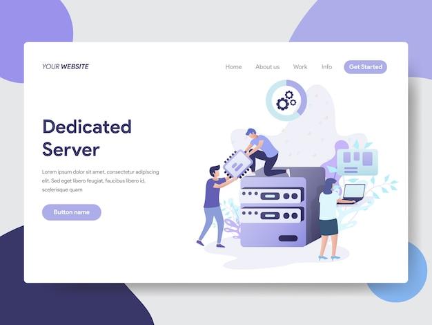 Ilustração de servidor dedicado para a página do site