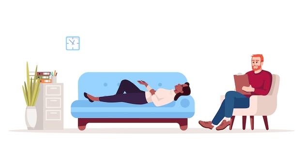 Ilustração de sessão de terapia privada