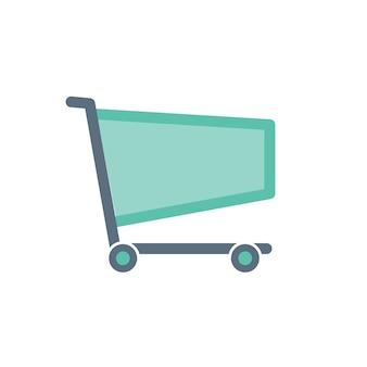 Ilustração, de, shopping, online