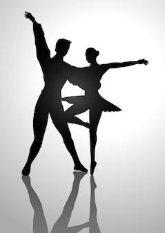 Ilustração de silhueta de bailarina
