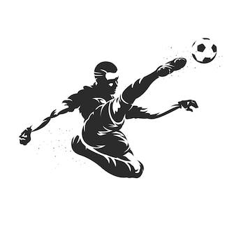 Ilustração de silhueta de jogador de futebol