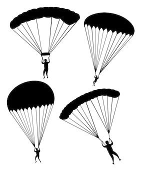 Ilustração de silhueta negra